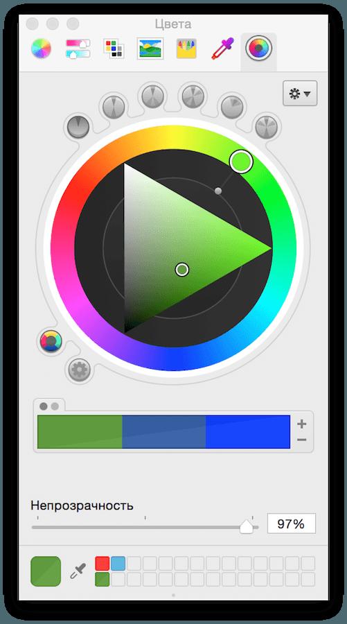 Hex number color picker