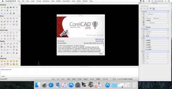 CorelCAD 2016 build 16.2.1.3056