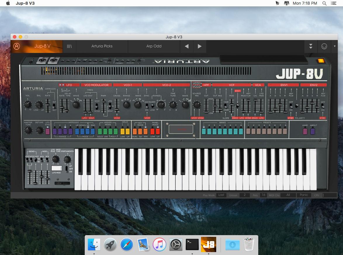 Arturia Jupiter V 3 0 1 download   Mac OS