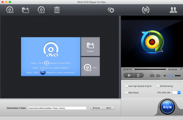 WinX DVD Ripper for Mac 4.6.3