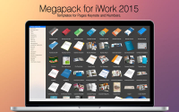 Megapack for iWork 2015: Keynote Numbers Pages Templates 2.3