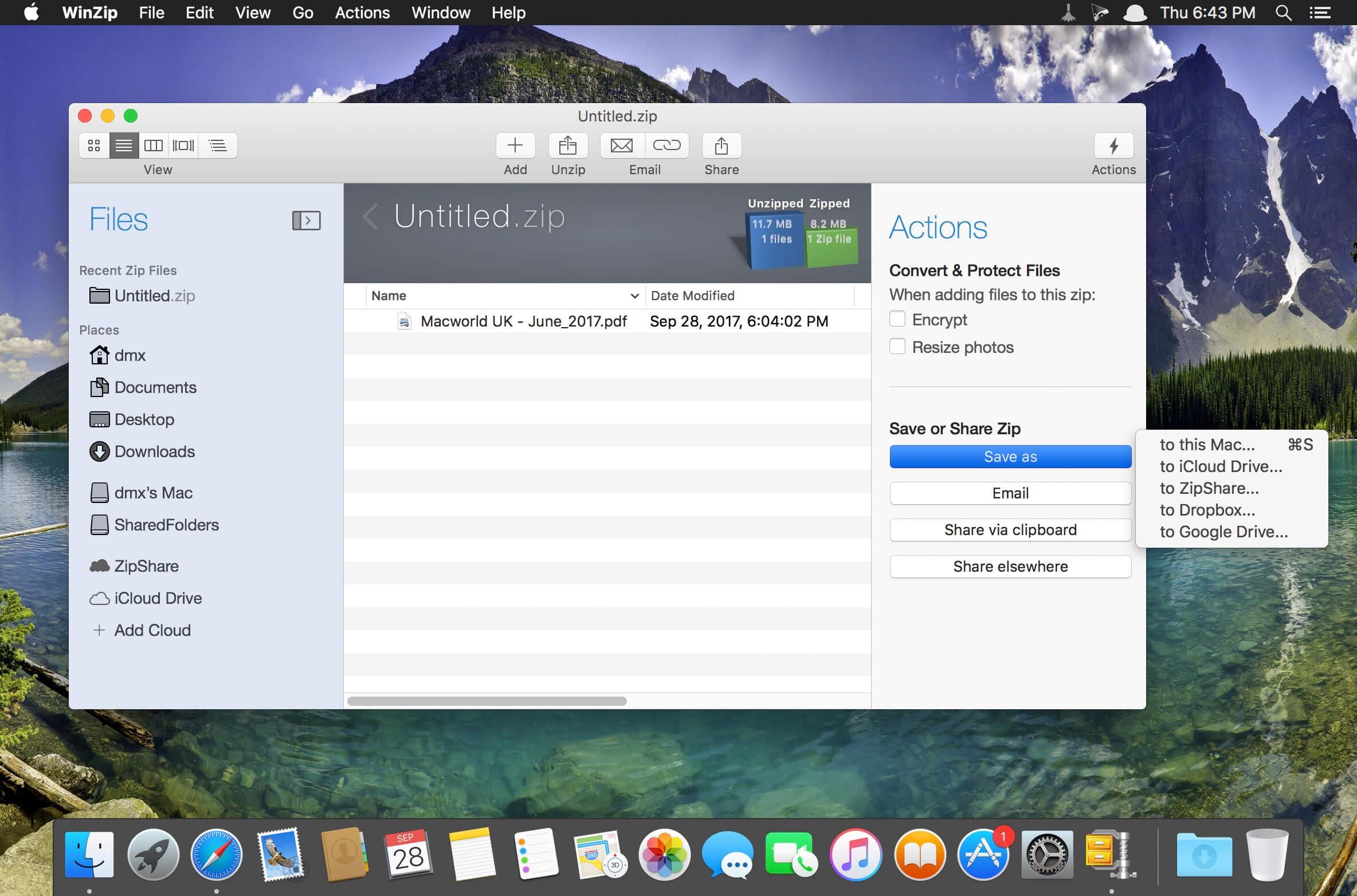 WinZip Mac Pro 7 0 4564 download | macOS