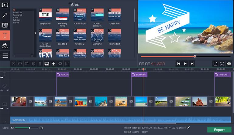 Movavi Slideshow Maker 5 4 0 download | macOS