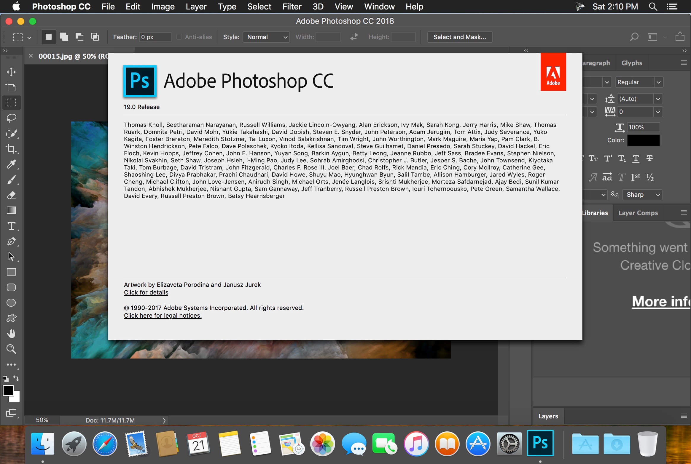 Adobe Photoshop CC 2018 v19 1 6 download | macOS