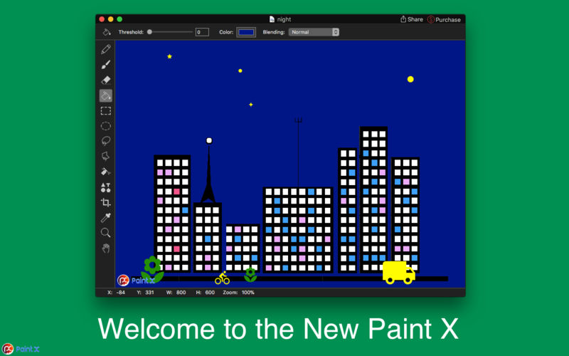 New Paint X 1 2 1 download | macOS