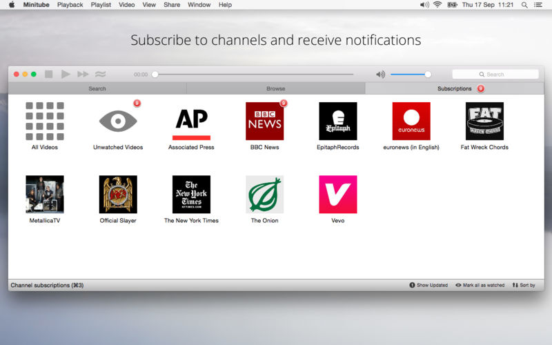Minitube for YouTube 3 1 download | macOS