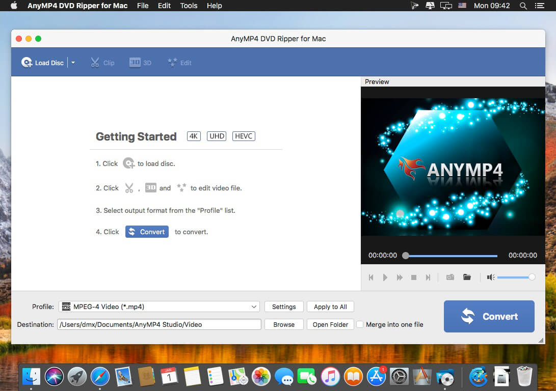 AnyMP4 DVD Ripper for Mac 8 2 12 download | macOS