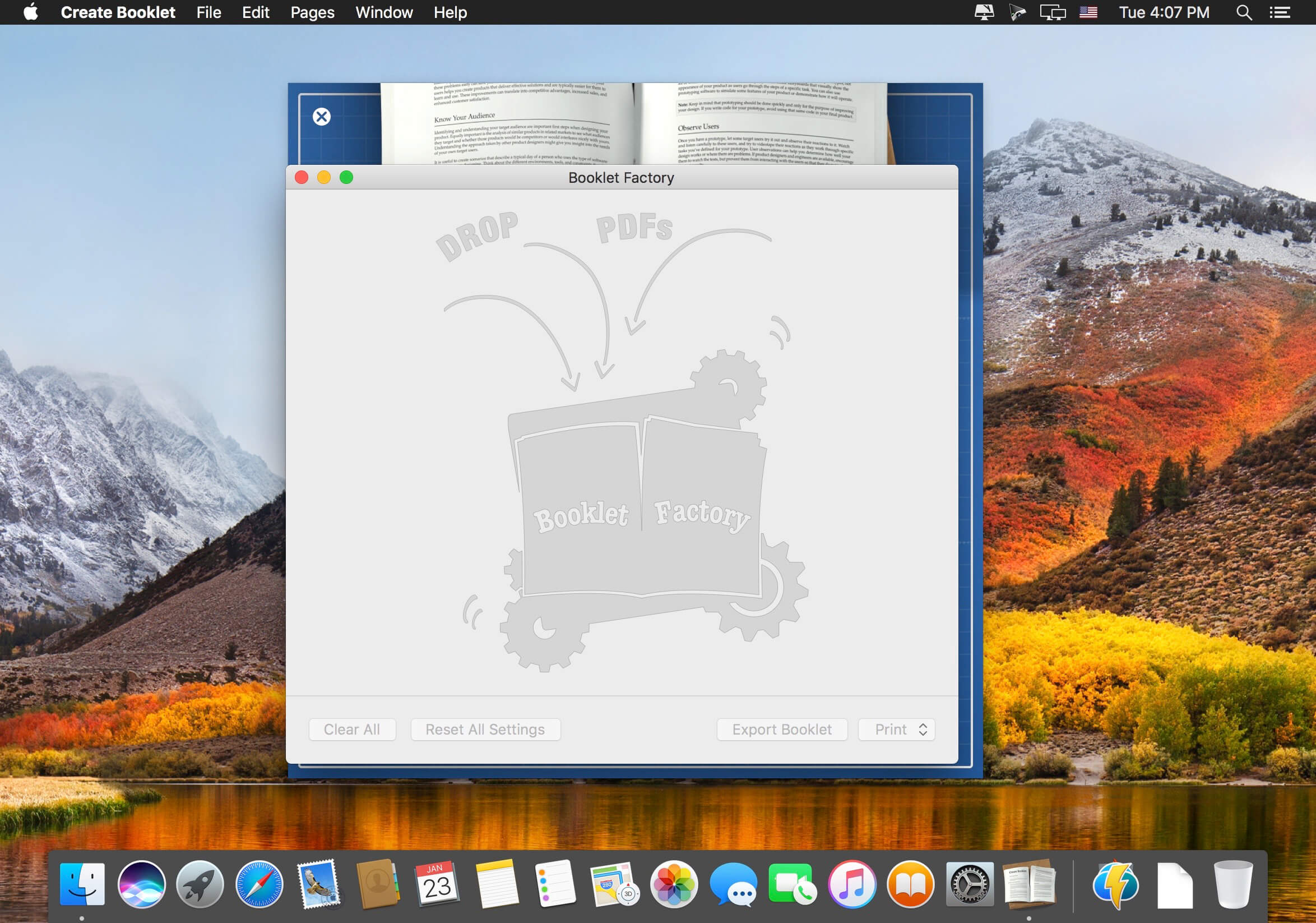 create booklet 1 3 11 download macos
