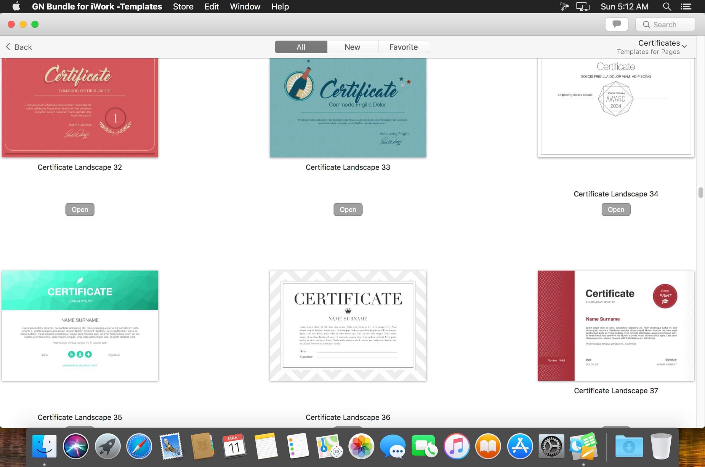 GN Bundle for iWork - Templates 6.0.1 download | macOS