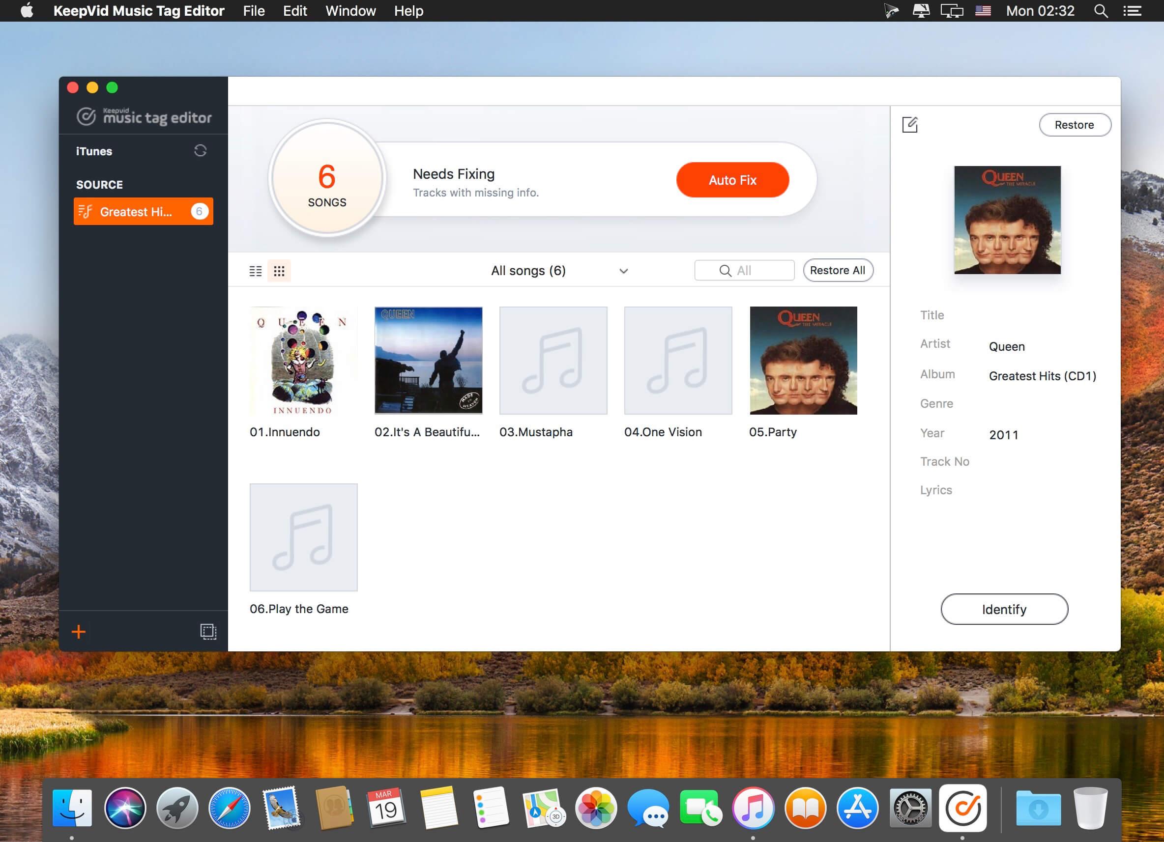 KeepVid Music Tag Editor 2 0 0 3 download | macOS
