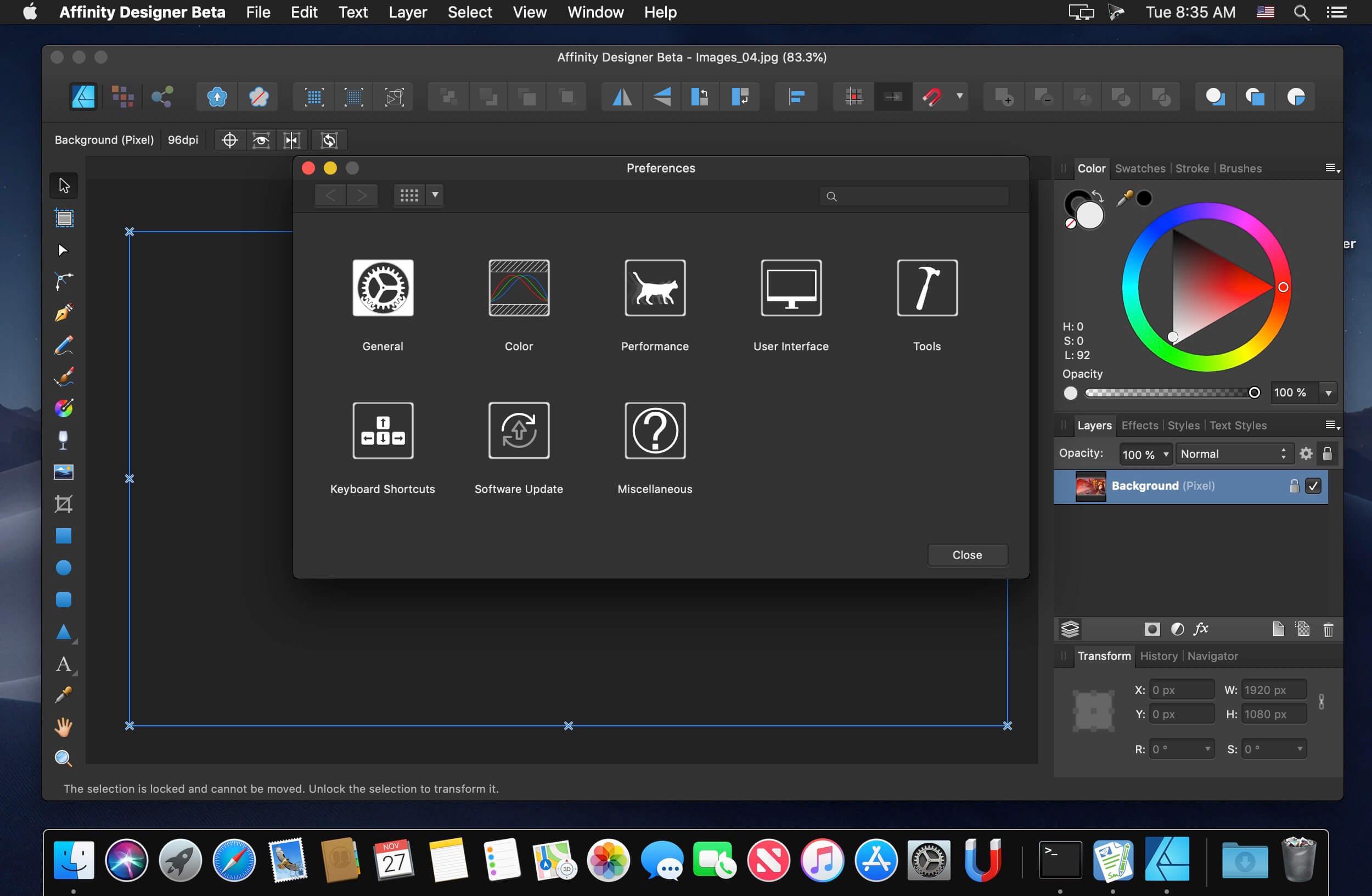 Affinity Designer 1 7 1 1 CR2 download | macOS