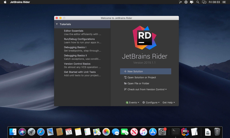 JetBrains Rider 2019 1 1 download | macOS